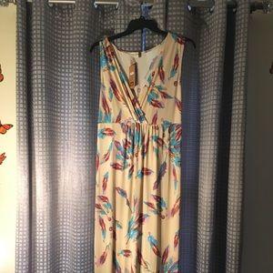 Jon & Ana Size 3x Feather Maxi Dress New with tags